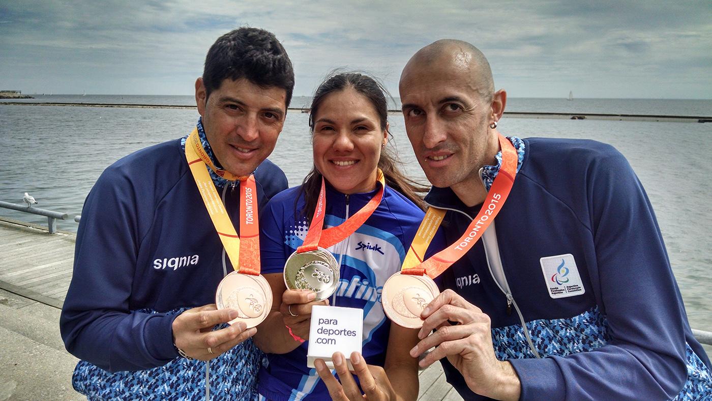 El ciclismo logró las primeras dos medallas argentinas en Toronto