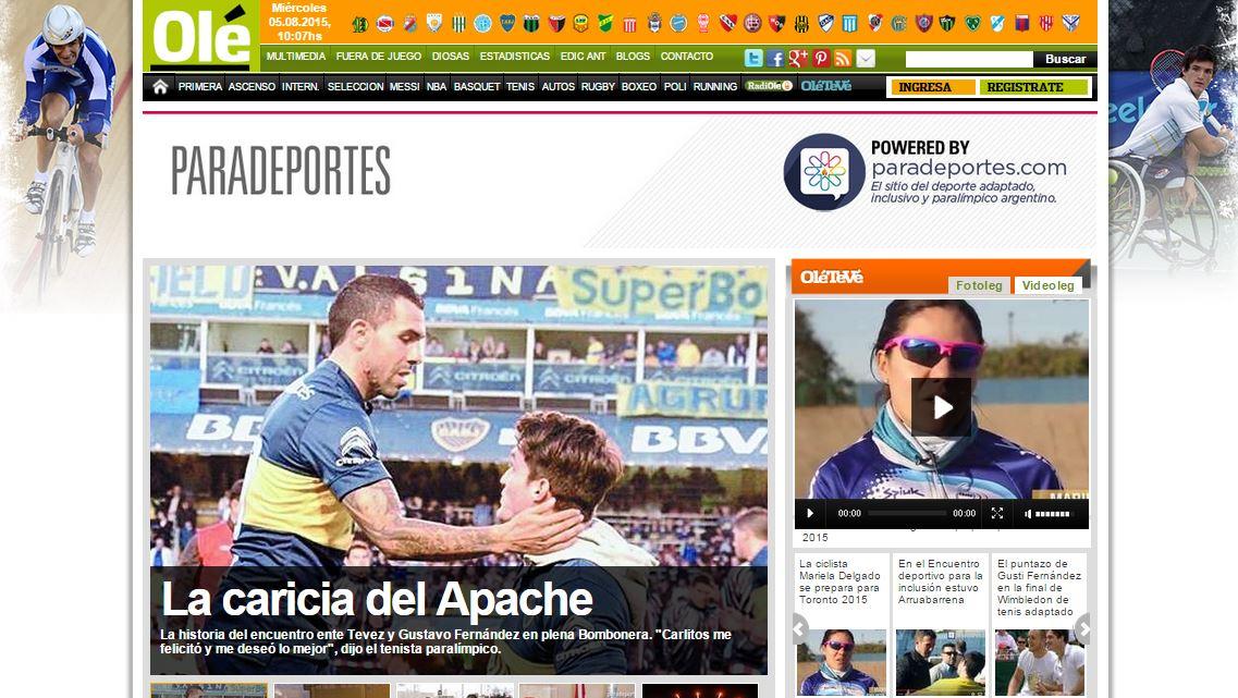 Paradeportes.com ahora también en Ole.com.ar