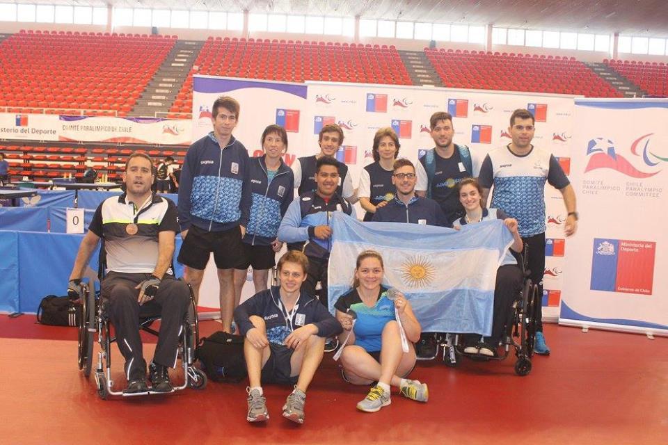 Tenis de mesa: diez medallas argentinas en Chile