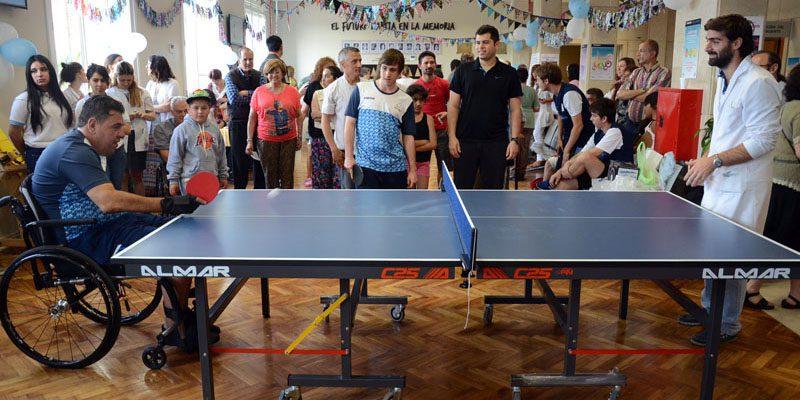 Tenis de mesa: la Selección visitó el Hospital Posadas
