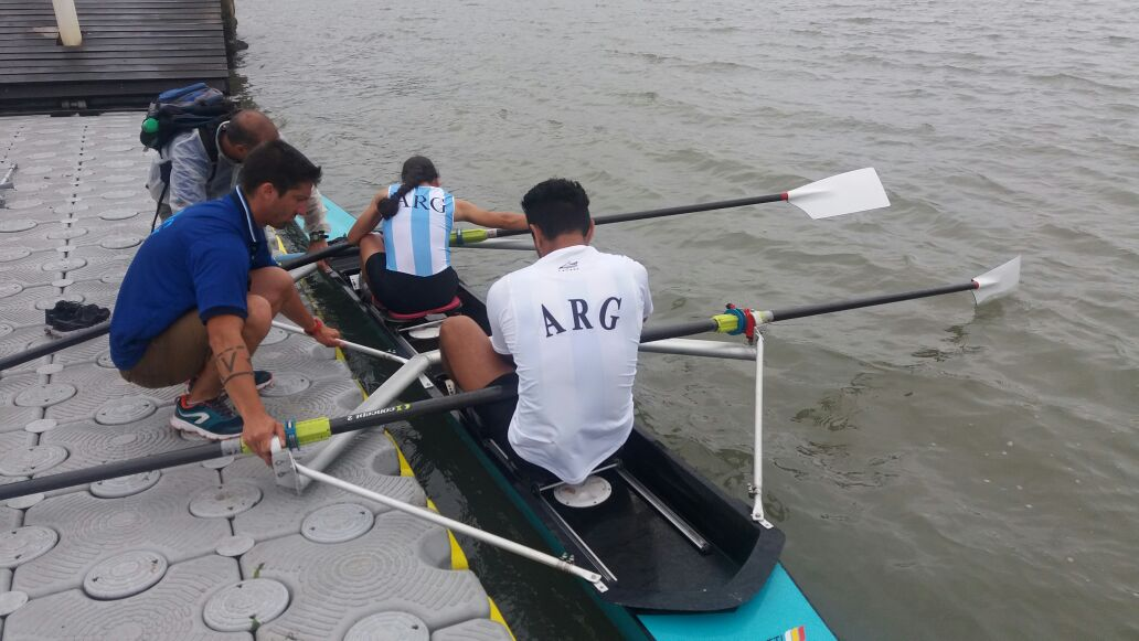 Remo paralímpico: seis medallas argentinas en el Campeonato Brasilero